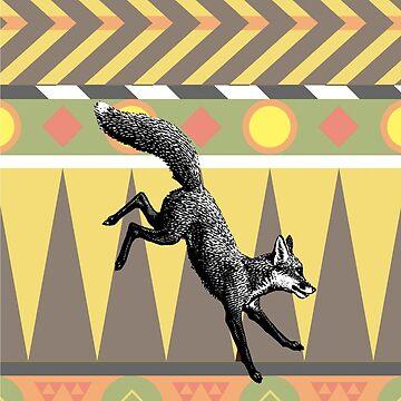 Aztec Fox by fourblackbirds
