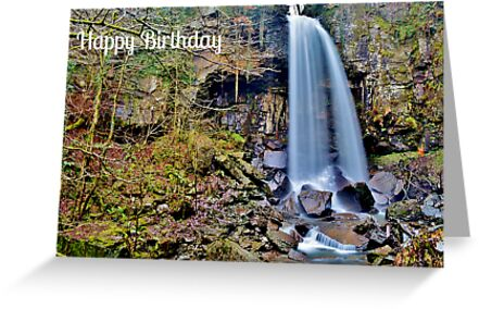 Melincourt Falls Birthday Card by Paula J James