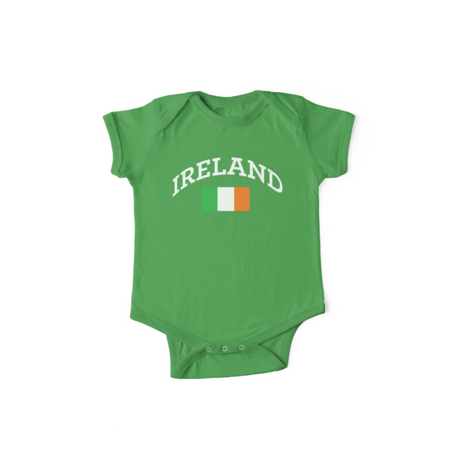 Arched Ireland with flag by RocketmanTees