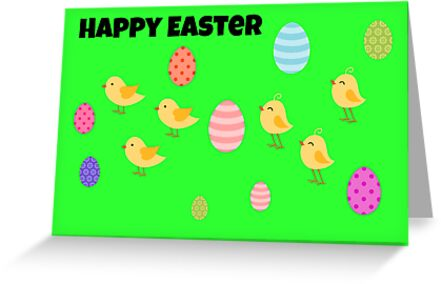 Happy Easter Card by Paula J James
