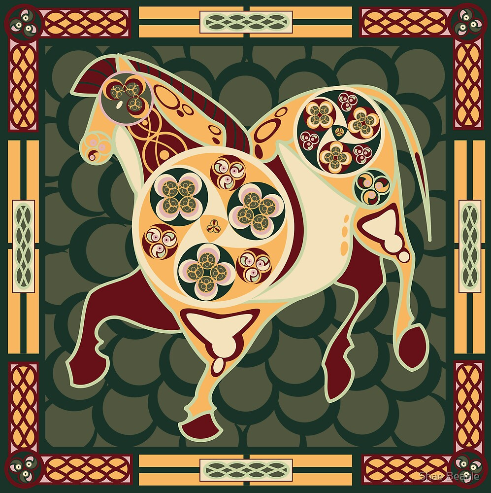 Celtic+Cave Painting: Horse by Shae Beagle