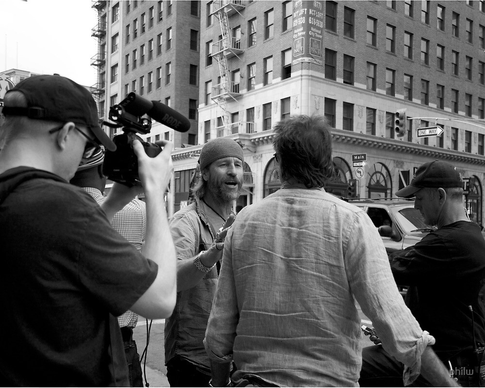 The director giving instructions. by philw