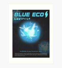 Blue Eco Art Print