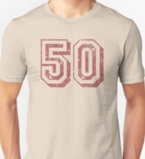Jersey-Styled 50th Birthday T-Shirt Unisex T-Shirt