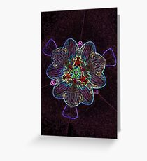 Neon Orchids Greeting Card