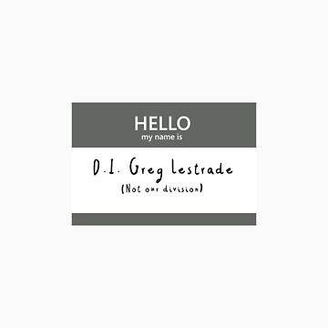 Greg Lestrade Name Tag by blackoutart