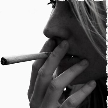 blond girl smoking weed by jneves