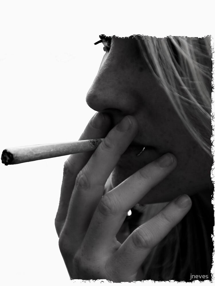 blond girl smoking weed by jneves
