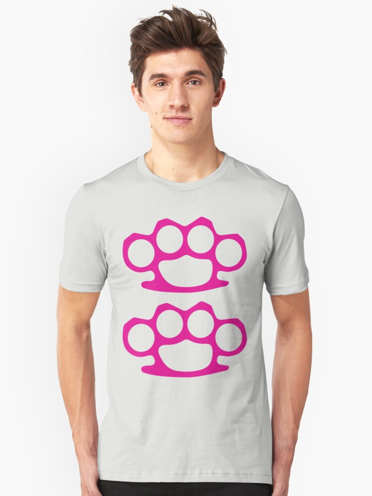Two Pink Knuckles Unisex T-Shirt Front