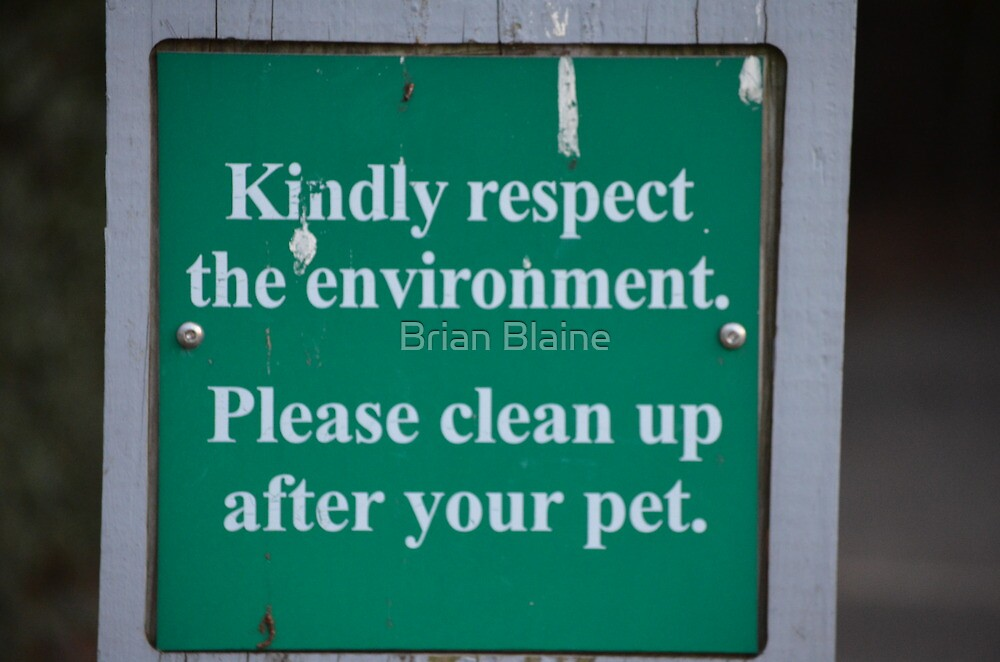 Sign by Brian Blaine