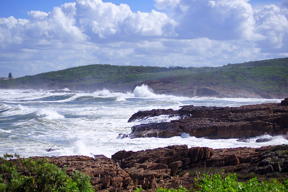 Rough Seas at Boat Harbour NSW Australia by Jill Patterson