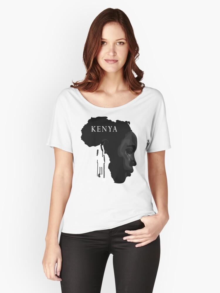 je suis kenya - where, Humanitarian Women's Relaxed Fit T-Shirt Front