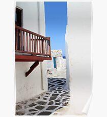 Mykonos Street Poster
