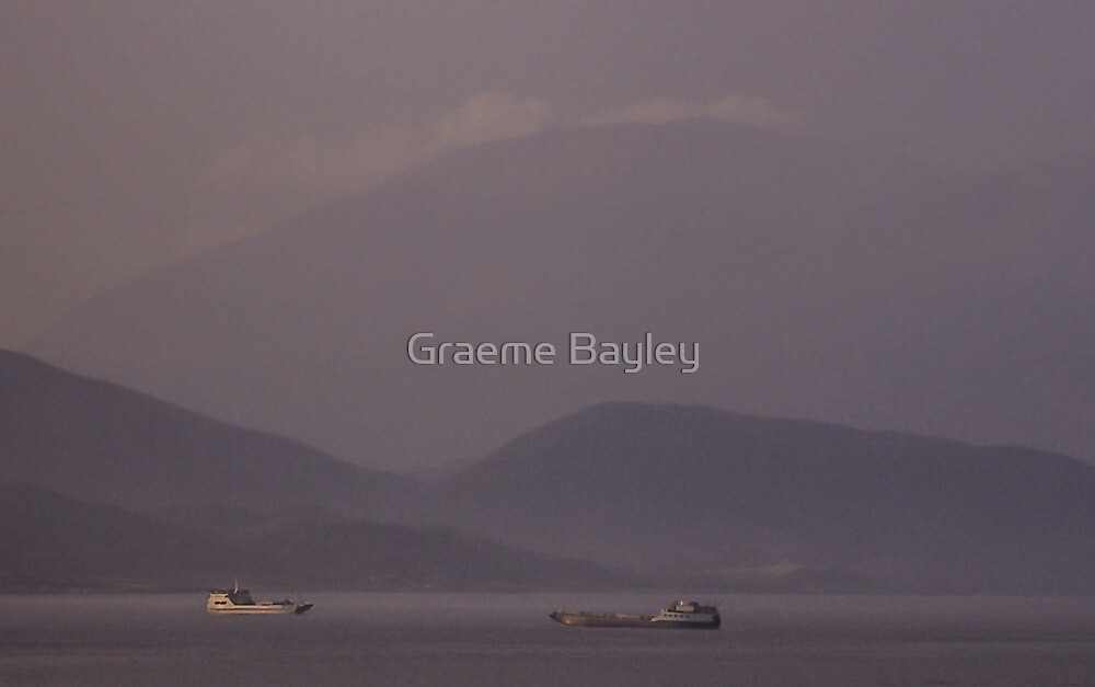 Ships passing at Dusk by Graeme Bayley