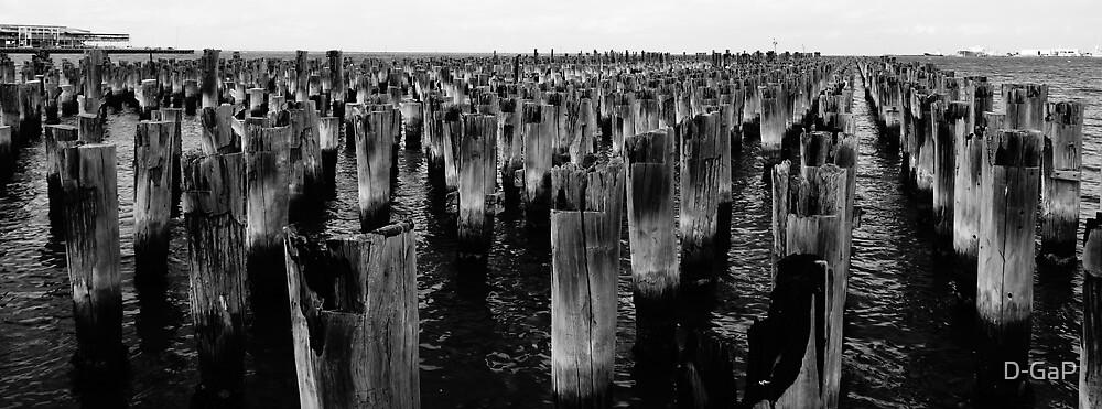 Princes Pier Port Melbourne Vic B & W by D-GaP