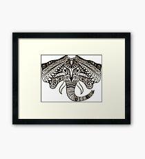the head of an elephant Framed Print