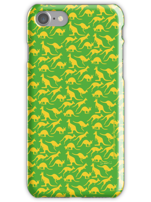Australian colours Kangaroos - gold and green by JumpingKangaroo