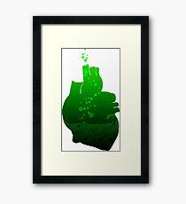 heart beats green Framed Print