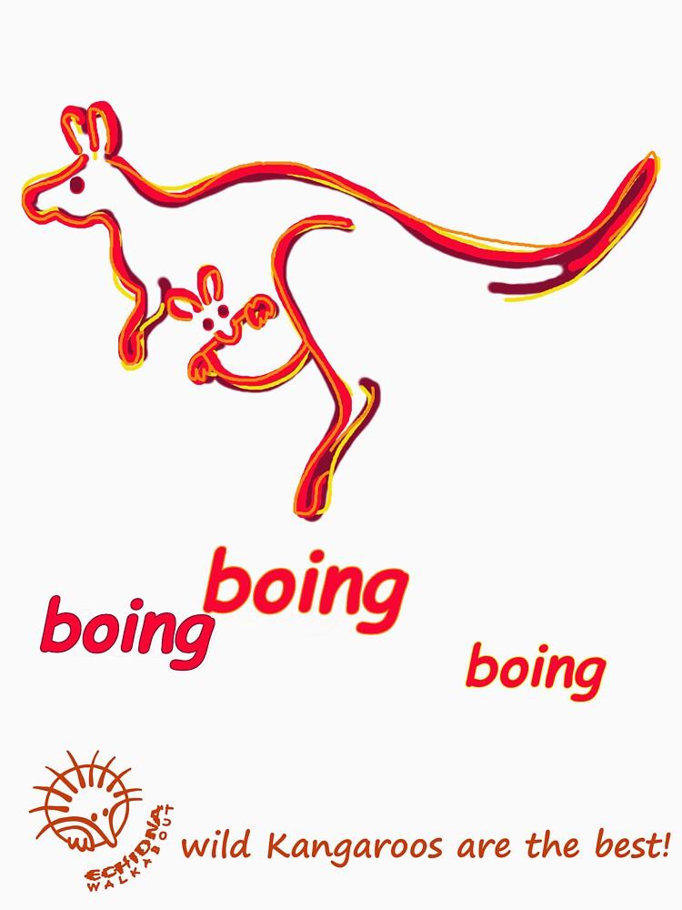 Boing boing boing kangaroo hopping orange by koalajanine