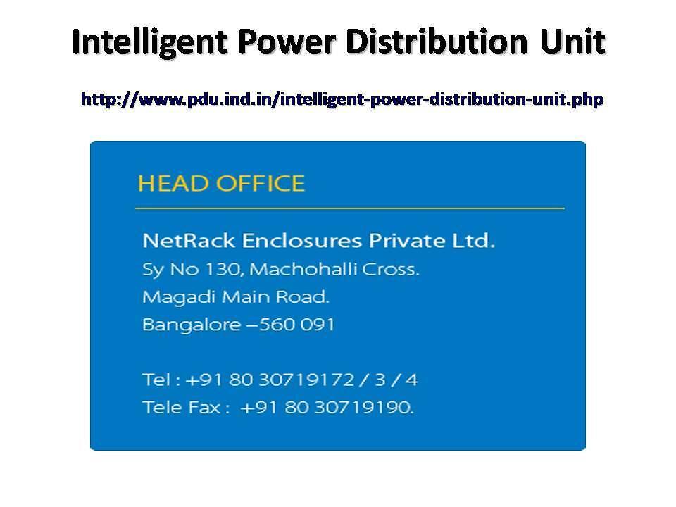 Intelligent Power Distribution Units by indiapdu