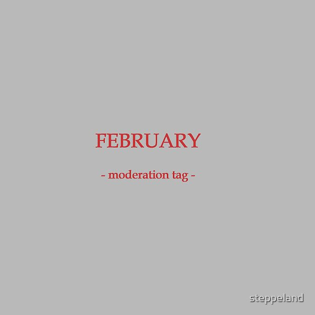 FEB- moderation tag by steppeland