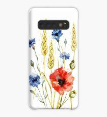 bouquet of wild flowers, poppy, cornflower, wheat Case/Skin for Samsung Galaxy