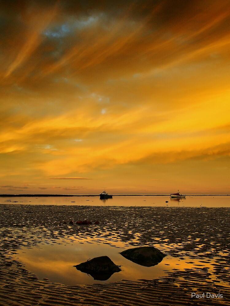 Boulmer beach by Paul Davis