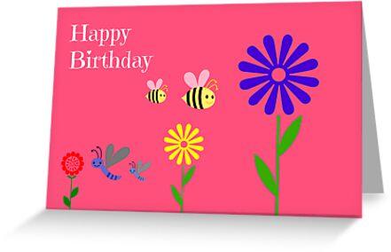 Children's Birthday Card by Paula J James