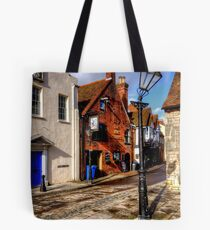 The Leaning Lampost Tote Bag