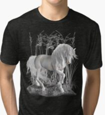 Ivory .. a white stallion Tri-blend T-Shirt