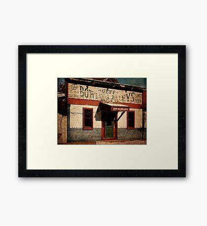 Jeff Bowling Alleys Framed Print