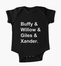Buffy & Willow & Giles & Xander. One Piece - Short Sleeve