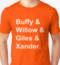Buffy & Willow & Giles & Xander. Unisex T-Shirt
