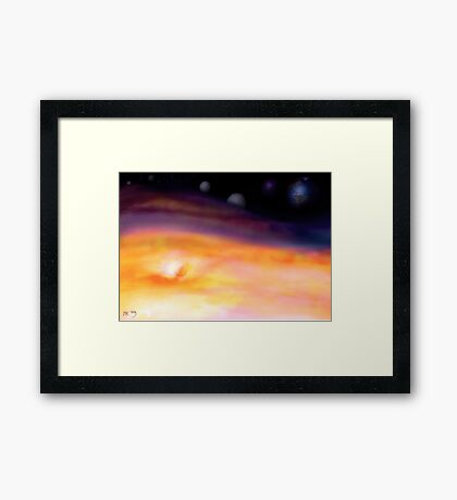 In a distant land, far away.... Framed Print