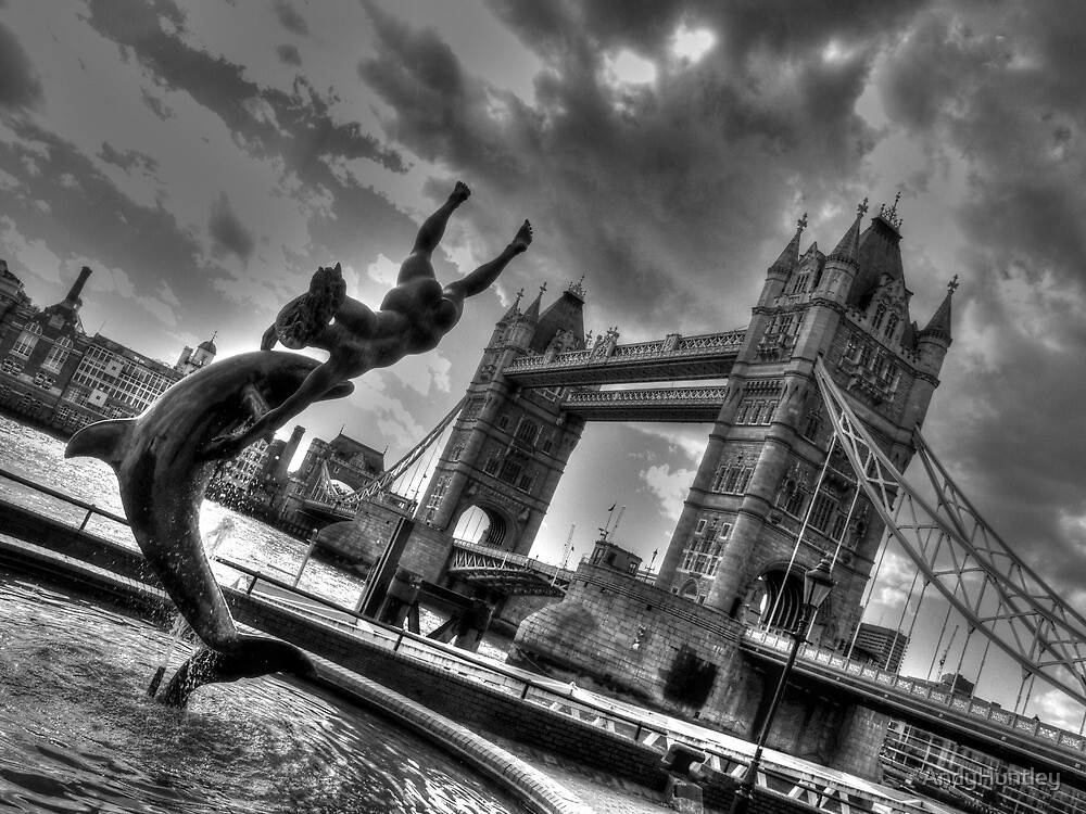 Dolphin by Tower Bridge by AndyHuntley