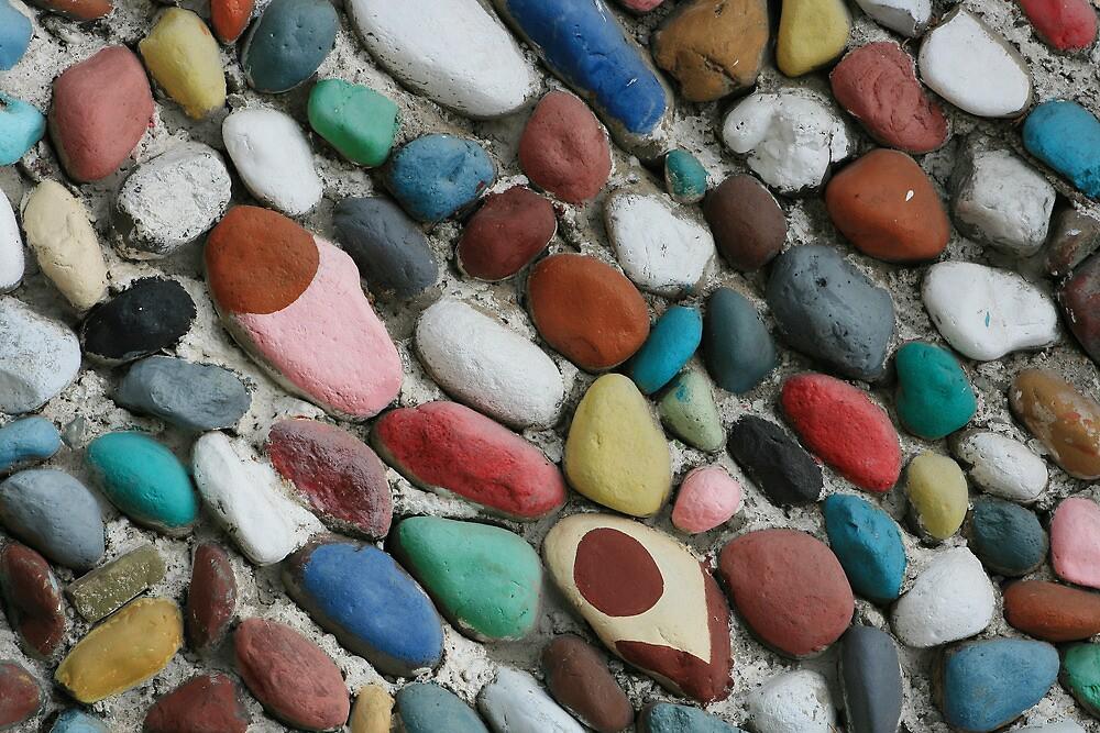 Angled Painted Rocks by rhamm