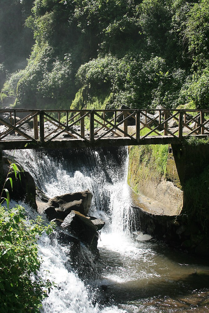 Bridge Over a Waterfall by rhamm