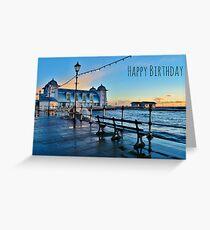 Penarth Pier Birthday Card Greeting Card