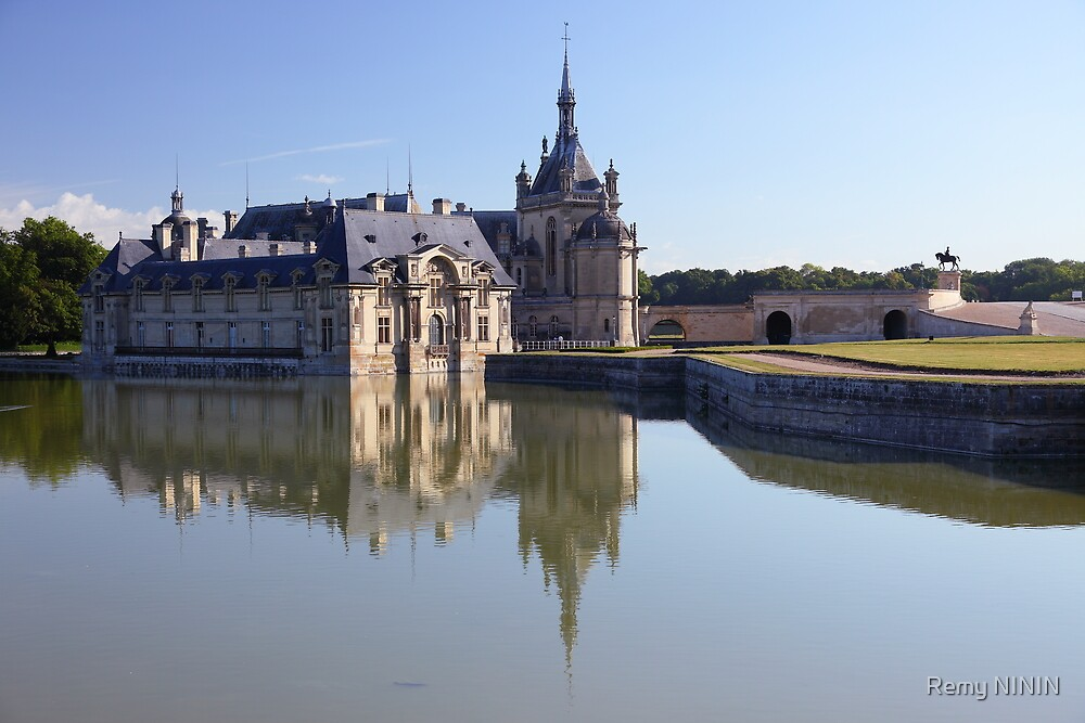 Chantilly, the castle in the morning, Oise, France. by Remy NININ