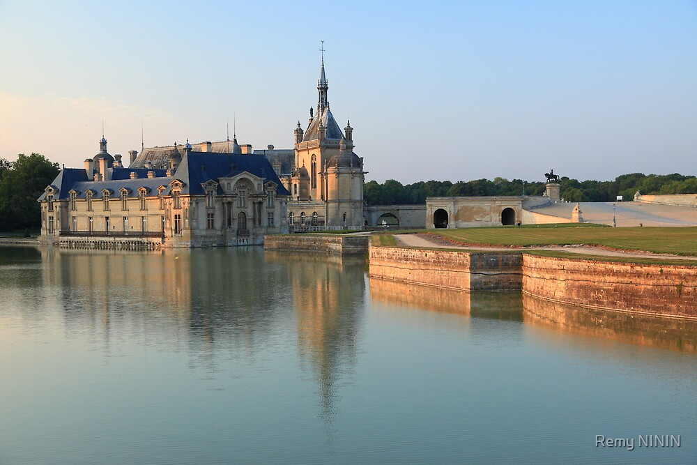 Chantilly, the castle at the golden hour, France. by Remy NININ