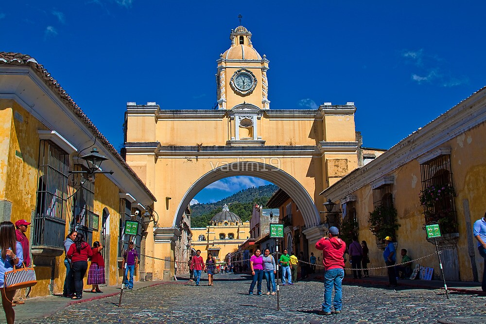 Guatemala. Antigua. Santa Catalina Arch. by vadim19