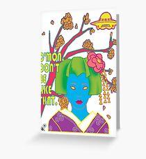 Geisha UFO Greeting Card