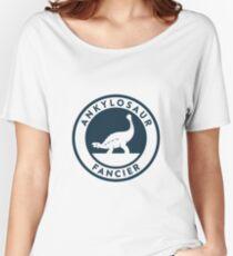 Ankylosaur Fancier Tee (Blue on White) Women's Relaxed Fit T-Shirt