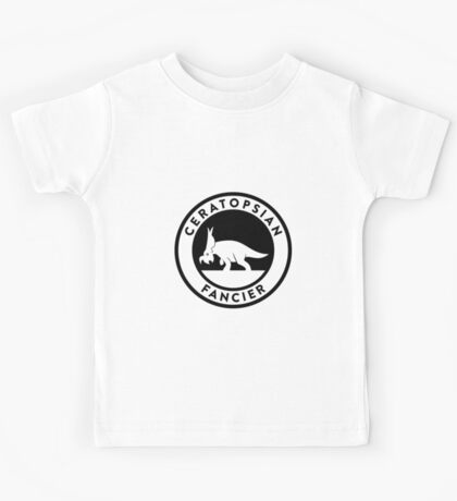 Ceratopsian Fancier Tee (Black on Light) Kids Clothes