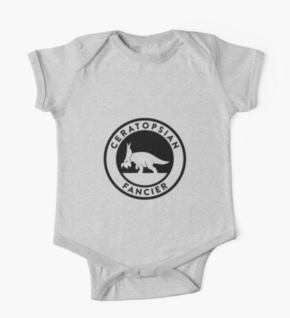 Ceratopsian Fancier Tee (Black on Light) Kids Clothes