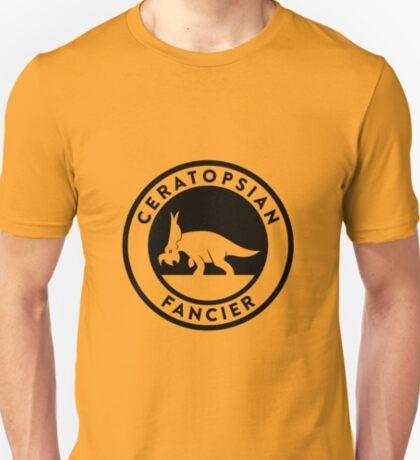 Ceratopsian Fancier Tee (Black on Light) T-Shirt