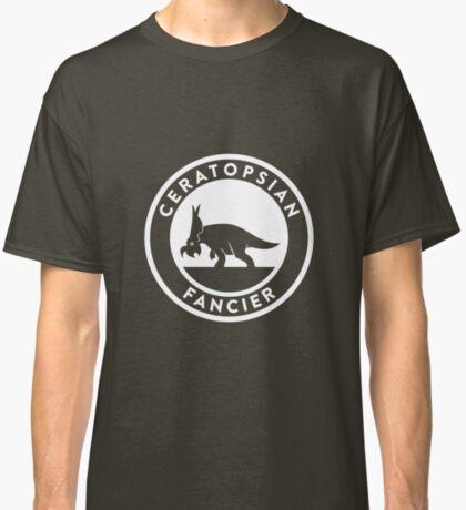 Ceratopsian Fancier Tee (White on Dark) Classic T-Shirt