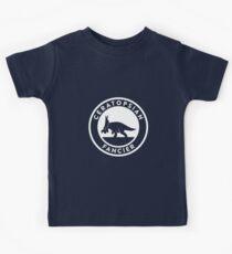 Ceratopsian Fancier Tee (White on Dark) Kids Tee