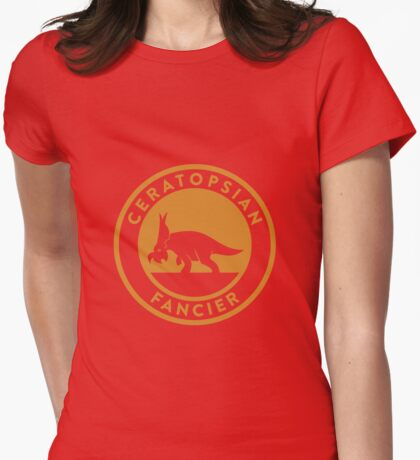 Ceratopsian Fancier Tee (Mustard on White) T-Shirt
