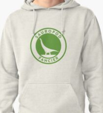 Sauropod Fancier (Green on White) Pullover Hoodie